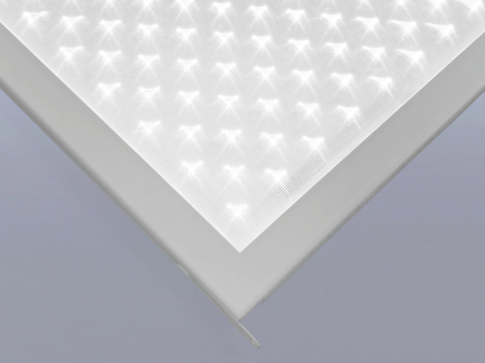 LED-Leuchte Klemm-Klapp Quattro-Line mit Mikro-Prismen-Abdeckung IP65Plus