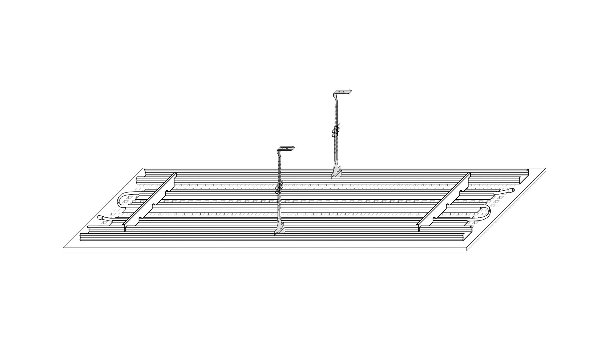 Kühldeckensystem mit Gipsplatten