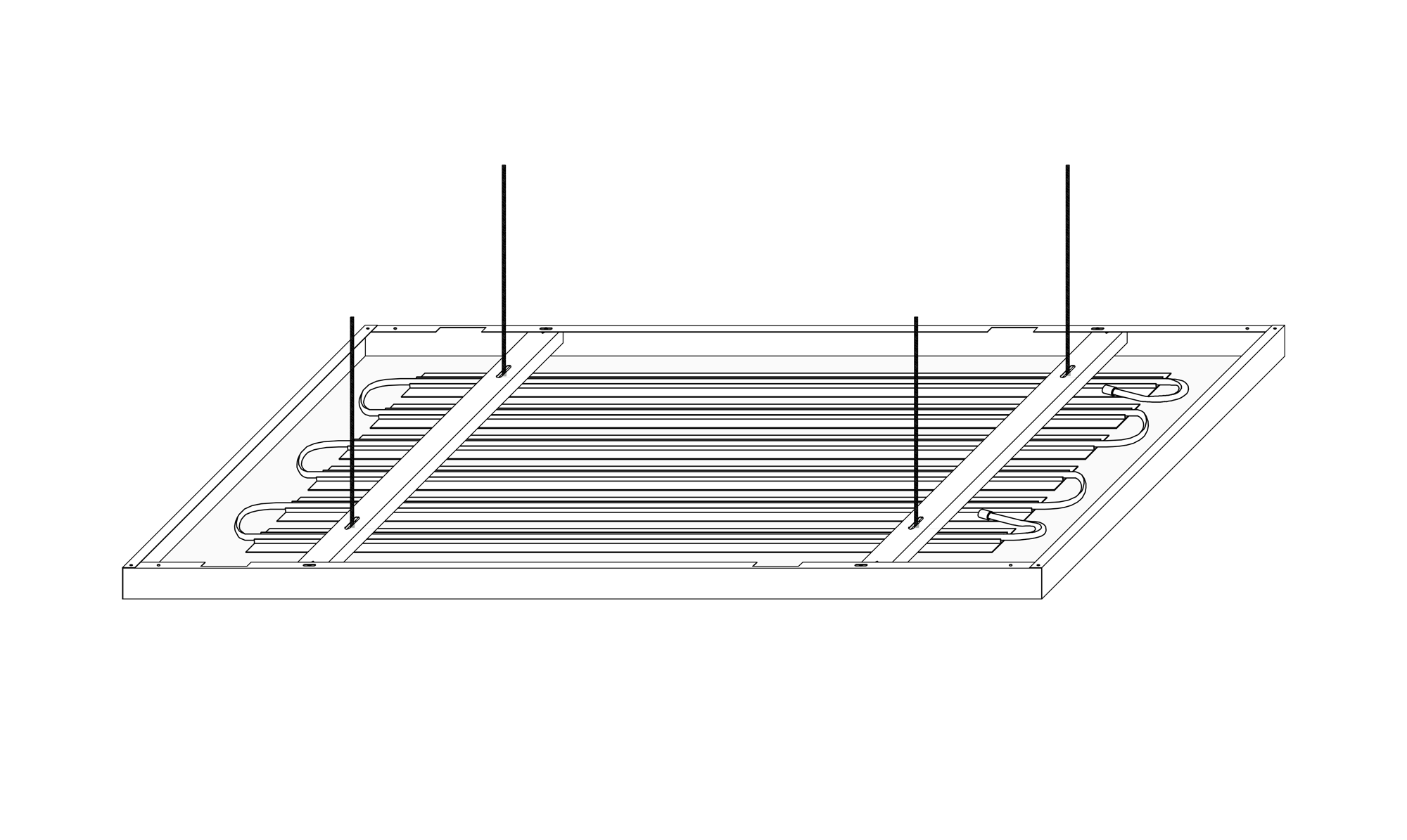 Kühldeckensystem – Metall-Deckensegel