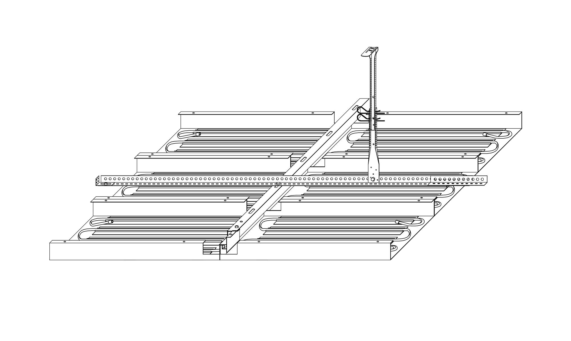 Register-Metalldecken EH-System mit CU WS